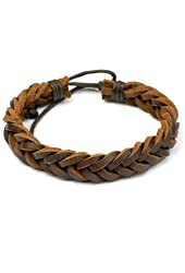 Brown Retro Zen Bracelet / Leather Bracelet / Leather Wristband / Surf Bracelet / Hemp Bracelet Adjustable Size, for Men, Women, Boys and Girls, Teen (RTB012)