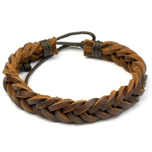 Brown Retro Zen Bracelet / Leather Bracelet / Leather Wristband / Surf Bracelet / Hemp Bracelet Adjustable Size, for Men, Women, Boys and Girls, Teen (RTB012)