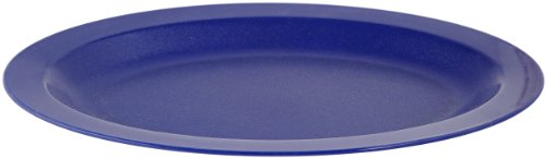 "Carlisle Pcd41250 Polycarbonate Oval Platter, 12"" Length X 9"" Width X 15/16"" Depth, Dark Blue (Case Of 24)"
