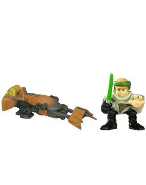Star Wars: Galactic Heroes 2010 Luke Skywalker & Speeder Bike Action Figure 2-Pack