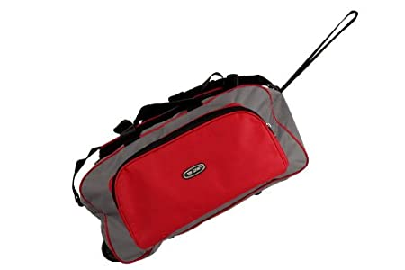 Amazon : Top Gear Red & Silver Duffle With Wheels @ Rs.185