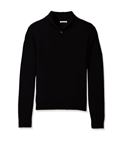 Cashmere Addiction Men's Solid Shawl Collar Sweater