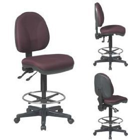 Deluxe Ergonomic Drafting Chair With 20 Diameter Footring Draf