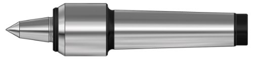 Röhm 362081 Type 600-20 Slim Tool Steel Revolving Tailstock Center with Small Casing Diameter and Extended Live Centre, Morse Taper 3, Size 04, 15mm Point Diameter, 60 Degrees Tip Angle