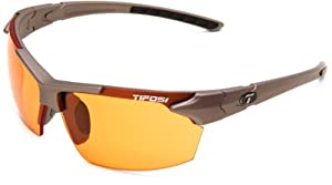 Tifosi Jet 0210300433 Wrap Sunglasses,Iron Frame/Orange Lens,One Size