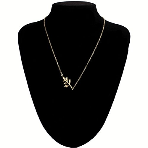 Doinshop New Useful Cute Nice Hot Korean Fashion Simple Elegant Gold Leaves Pendant Chain Necklace