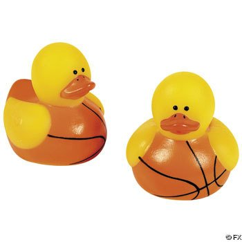 24-Pc Mini Basketball Rubber Ducky Party Favors