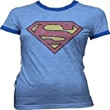Superman Juniors Ringer T-Shirt