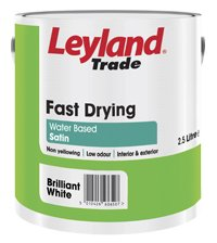 2.5LTR - LEYLAND PAINT FAST DRYING SATIN ORANGE & RED RANGE ORANGE SHAKE
