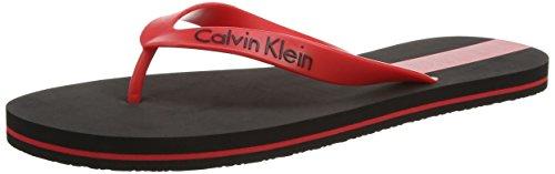 Calvin Klein UnderwearFlip Flop - Sandali infradito Uomo, Rot (BLACK/CHINESE RED CL4), 41^42