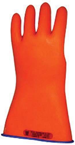 """Salisbury By Honeywell Size 8 1/2 Blue And Orange 11"""" Type Ii Salcorâ® Rubber Class 0 Low Voltage Electrical Insulating Linesmen'S Gloves"""