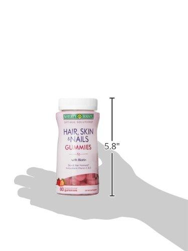 预防脱发,Nature's Bounty 生物素软糖 2500 mcg*80粒*3瓶图片