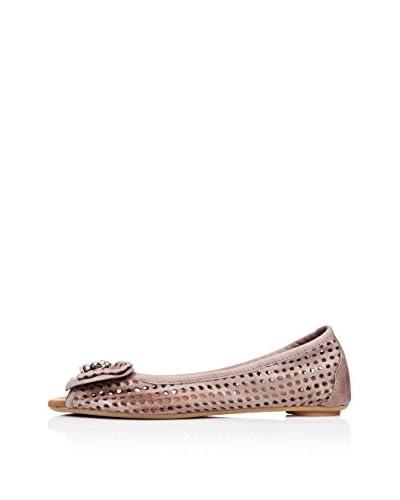 Bueno Shoes Zapatos Peep Toe Lazo Topo