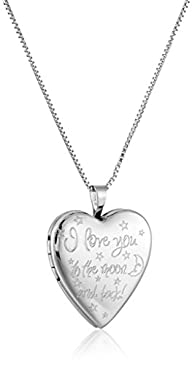 """Sterling Silver Engraved """"I Love You…"""