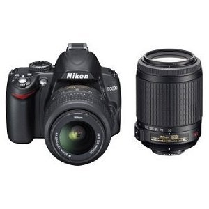 Nikon D3000 10MP Digital SLR Camera with 18-55mm f/3.5-5.6G & 55-200 AF-S DX VR Nikkor Zoom Lenses