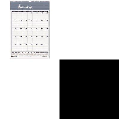 kitcox35286eahod333-value-kit-house-of-doolittle-bar-harbor-wirebound-monthly-wall-calendar-hod333-a