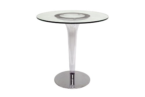 Baxton Studio Simi Modern Glass Bistro Table