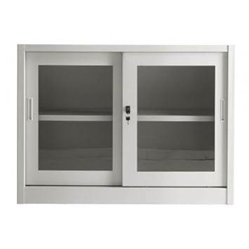 Metal filing office cupboard side opening cm. 120x45x88h