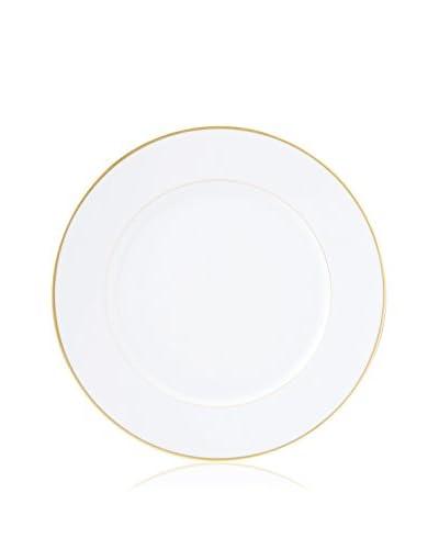 Haviland Color Block Dinner Plate, White/Gold