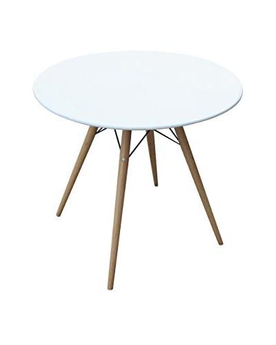 Manhattan Living Woodleg 36 Dining Table, White