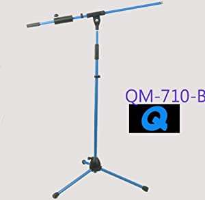 Amazon Com Q Mic Primary Colors Blue Mic Stand Musical