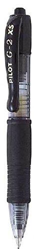 Pilot G2 Pixie - Roller mini con tinta de gel, color negro, 12 unidades