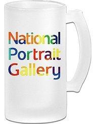 National Portrait Gallery Frosted Glass Pub Big Beer Mug - 500ML