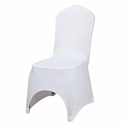 100 White Polyester Spandex Folding Chair Slipcover for Wedding Party