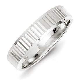 Genuine IceCarats Designer Jewelry Gift Sterling Silver 5Mm Diamond-Cut Band Size 9.00
