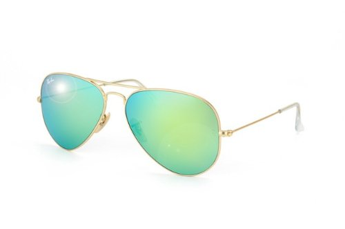 Ray Ban RB3025 Large Aviator Sunglasses - 112/19 Gold (Green Mirror Lens) - 58mm