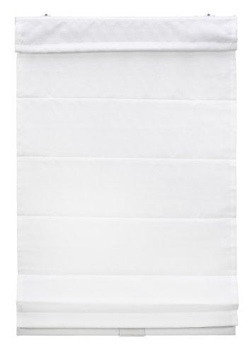Klemmfix Raffrollo ohne Bohren 60 x 130 cm weiß