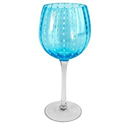 Artland 4 Cambria Goblets, 18 Oz., Turquoise by Artland