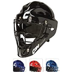 Buy Combat baseball softball catchers gear hockey style helmet mask NEW Adult Red by Combat