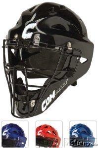 Buy Combat baseball softball catchers gear hockey style helmet mask NEW Adult Navy by Combat