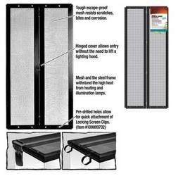 R-Zilla SRZ100011802 Fresh Air Screen Cover with Center Hinge for Pet Cages, 30-1/4 by 12-7/8-Inch, Black