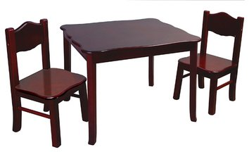 Classic Espresso Table & Chairs Set