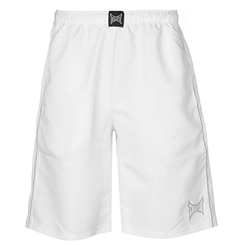 Tapout-Pantaloncini Bermuda da fitness Pantaloni sportivi da uomo pantaloni corti da allenamento pantaloni da corsa bianco XXL