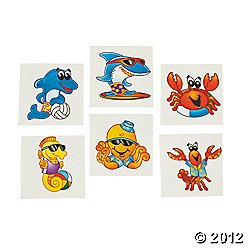 72-ct-Sea-Creature-Temporary-Tattoos-Health-and-Beauty