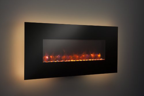 Outdoor Great Room GE-50 50-Inch Gallery Linear Electric LED Fireplace, Includes LED Backlighting, Heater, IR Remote, 6-Feet Cord and Stonefire Media