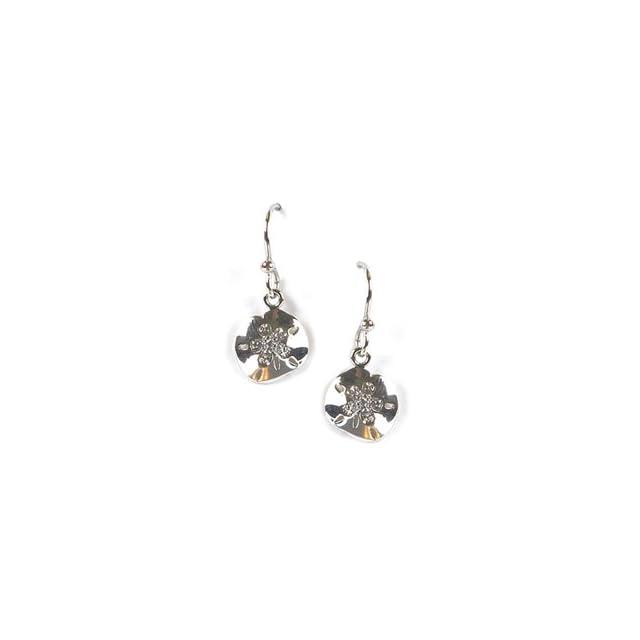 890e4414b Jody Coyote Flourish Sand Dollar Earrings with CZ ER452 Dangle Earrings  Jewelry