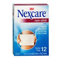 Nexcare Nexcare Non-Stick Pads 2 X 3, 12 each (Pack of 2)