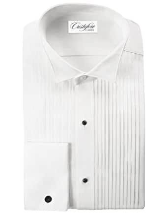 Cardi Men 39 S 100 Cotton Wing Collar Tuxedo Shirt 1 4 Inch: 100 cotton tuxedo shirt