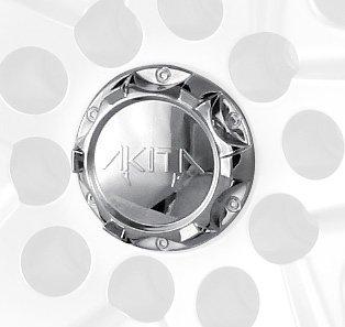 Mr. Lugnut C10410 Chrome Plastic Center Cap Cap for Akita Wheels (Mr. Lugnut)