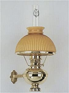 Amazon.com: Aladdin Deluxe Brass Wall Bracket Hanging Lamp Cased Shade 10 Inch - Golden Amber ...