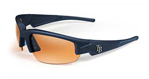 MLB Tampa Bay Rays Men's Dynasty 2.0 Sunglasses, Blue/Blue Tips/Light Blue Stitch, Adult