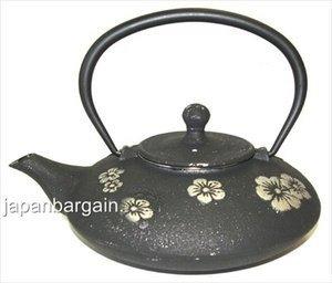Black Plum Blossom Cast Iron Teapot 18oz #TB76-06 from JapanBargain