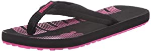 Puma Epic Flip 353461, Damen Zehentrenner, Schwarz (black-raspberry rose 01), EU 42 (UK 8) (US 10.5)