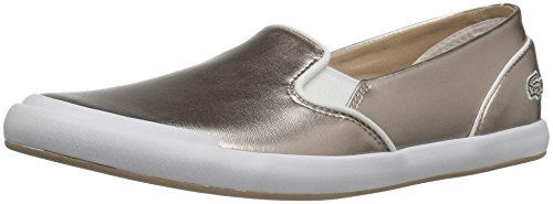 Lacoste Women's Lancelle Slip on 316 2 Spw Gry Fashion Sneaker, Grey, 9 M US