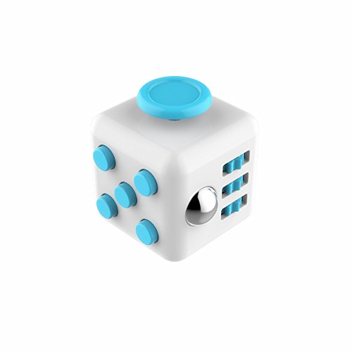 White Blue Fidget Cube