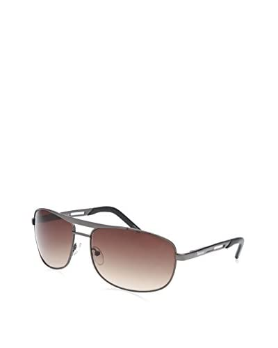 Timberland Men's TB7115 Rectangle Sunglasses, Gunmetal/Brown Gradient